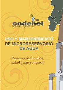 Uso y Mantenimiento de Microreservorio de Agua